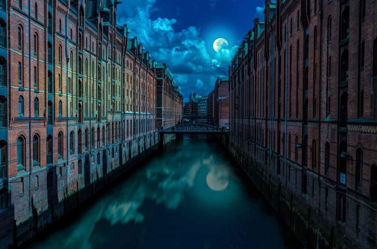 architecture bridge buildings canal